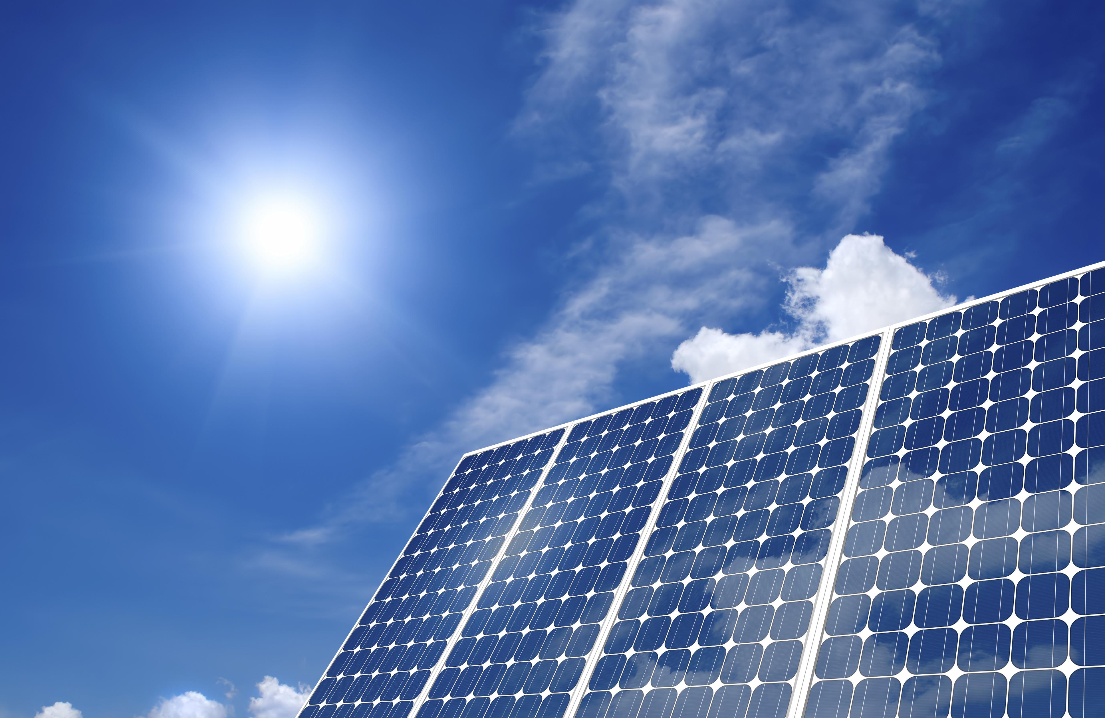Green Solar Panel Background
